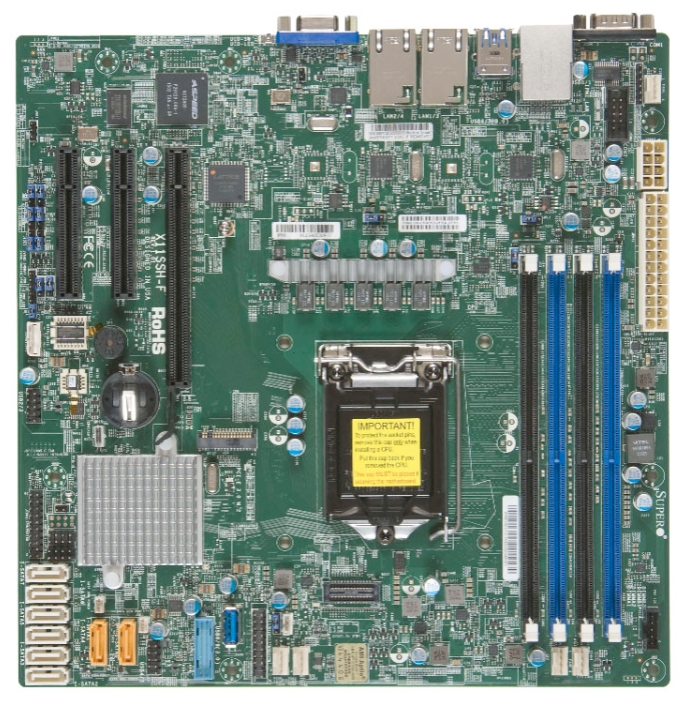 Материнская Плата SuperMicro MBD-X11SSH-F-O Soc-1151 iC236 mATX 4xDDR4 8xSATA3 SATA RAID i210AT 2xGgbEth Ret