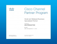 "Компания ""ASA Production"" подтвердила партнерские статусы Cisco Registered Partner, Cisco Select Partner и Cisco Small and Midsized Business Certified Partner"